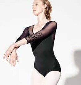 Bloch Bloch L8906 Vine Flock 3/4 Sleeve Leotard
