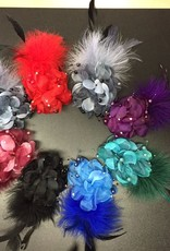 Flower Feather Hair Clips