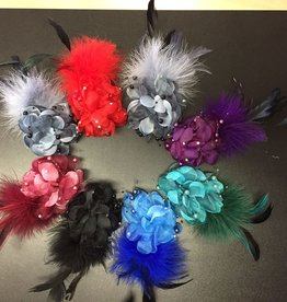 Flower Feather Hair Cli