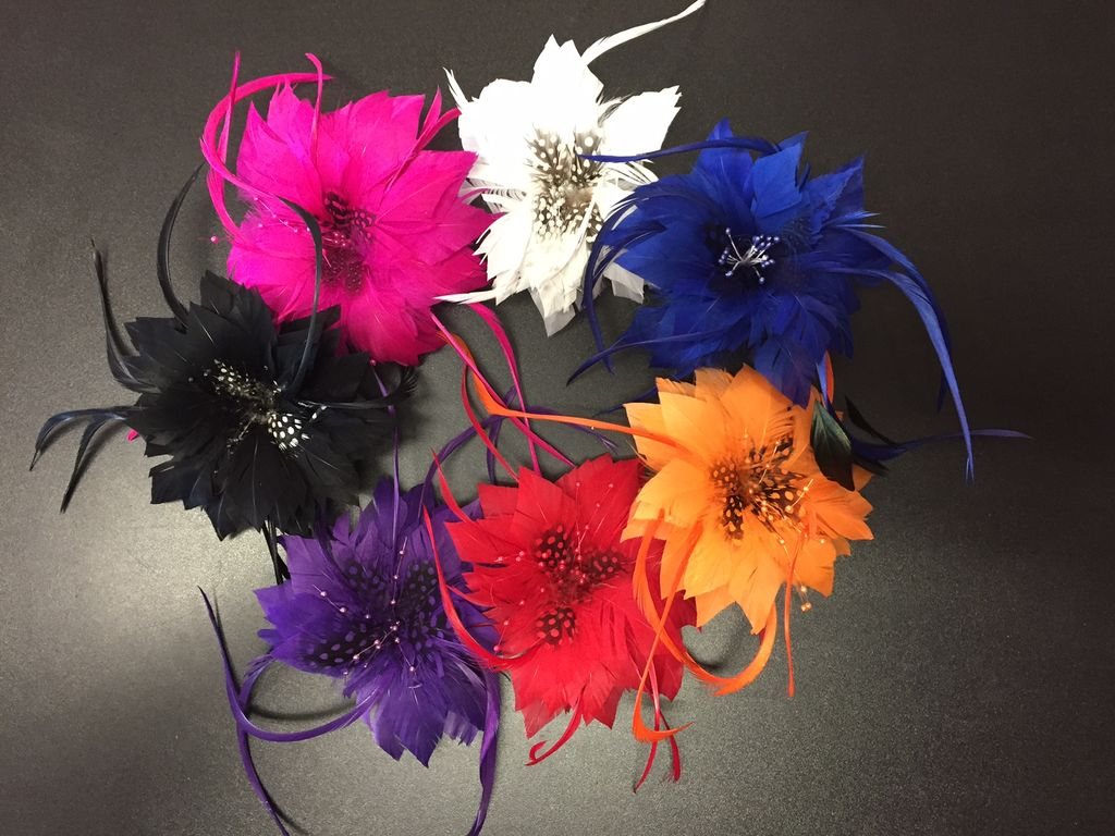 Hair Clip Flower Feathers
