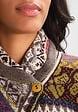 IVKO Knits IVKO Knits Collar Jacket, Floral Pattern