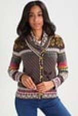 IVKO Knits Collar Jacket, Floral Pattern