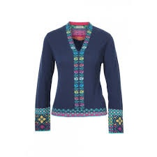 IVKO Knits V-Neck Pullover, Intarsia Pattern