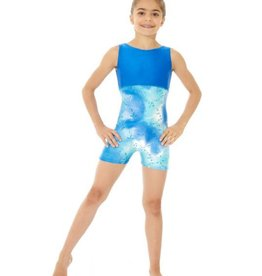 Mondor Mondor Printed Gymnastics Unitard with Shorts