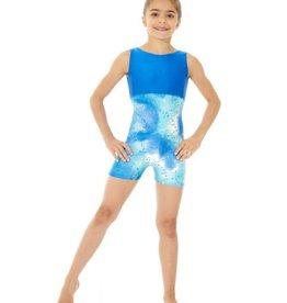 Mondor Mondor Printed Gymnastics Unitard with Shorts