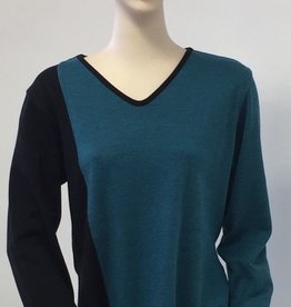 Parsley And Sage Parsley And Sage Riley Reversable Tunic 7T143T5 Teal/Blk