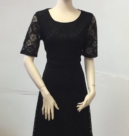 Smashed Lemon Smashed Lemon Black Lace Dress