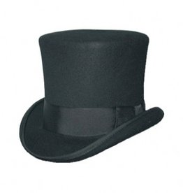 Black Top Hat- Satin