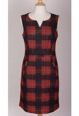 Smashed Lemon Beautiful red plaid dress with pockets from Amsterdam.