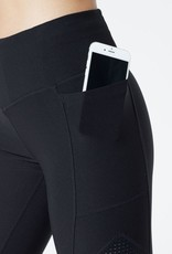 MPG Frame your legs in this figure enhancing design featuring silky-touch inserts at the thigh with micro perforation for a super cool, contrast look and ventilation when you need it. A thoughtful side pocket detail designed for carrying electronics is perfec