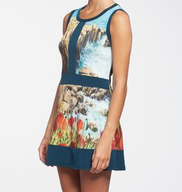 Kollontai Kollontai 12-329 Teal Flower Dress