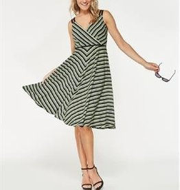 Smashed Lemon Smashed Lemon 18144-09 Greens Striped Dress