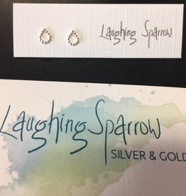 Laughing Sparrow Laughing Sparrow 170-02 Tiny Bead Raindrop Studs
