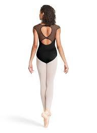 Bloch Bloch Mirella M5060LM Applique Open Back with Mesh Bodysuit Adult