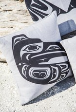 """Chloe Angus Designs Chloe Angus Blue Pillow Cover 16""""x16"""""""