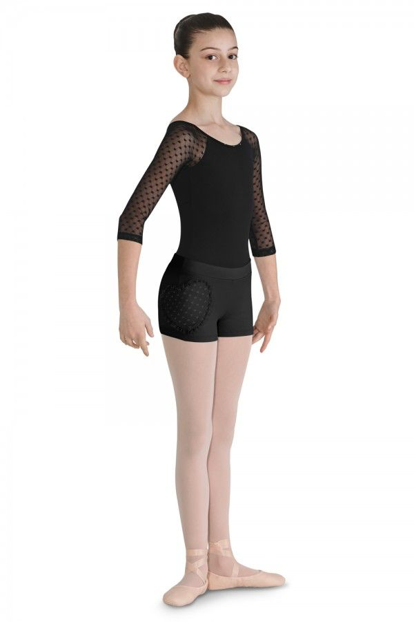 Bloch Bloch CR7914 Heart Shape Mesh Shorts - Child