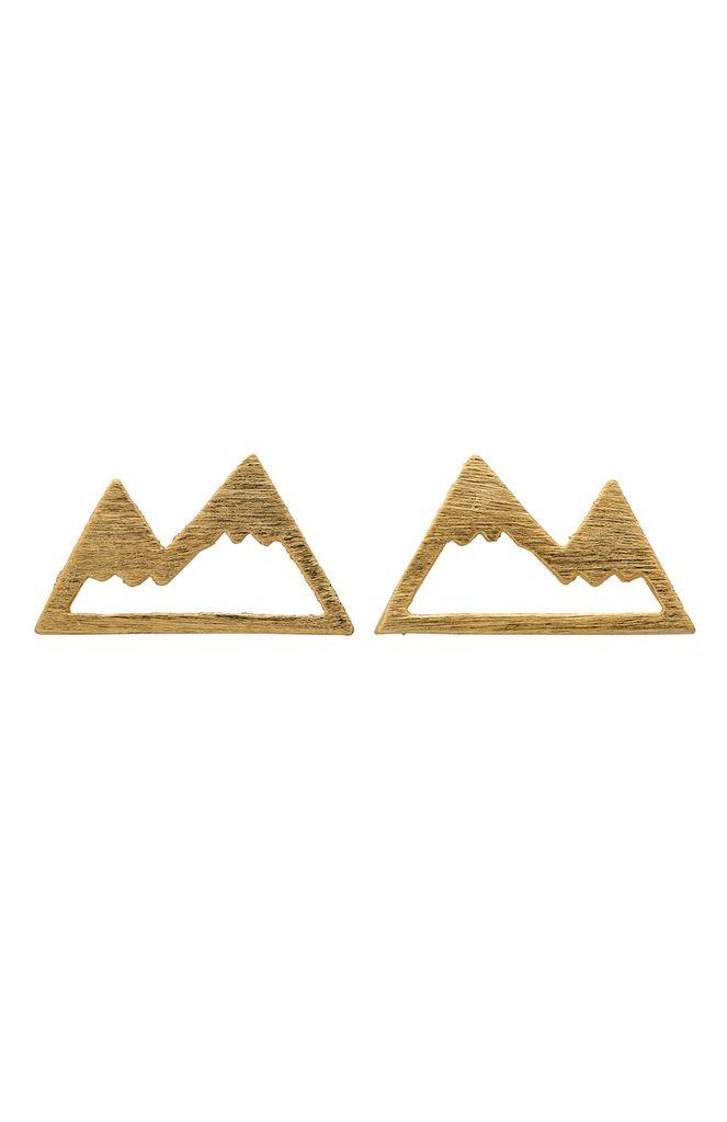 ELK Elk SE0434S15 Gold Alp Stud Earrings