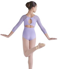 Bloch Bloch CL9906 Selene Diamond Mesh 3/4 Sleeve Leotard/Bodysuit
