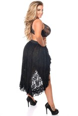 Daisy Corsets Daisy ACC-126 HIgh Low Lace Skirt - Regular