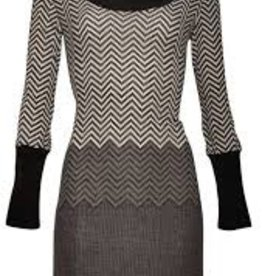 Smashed Lemon Smashed Lemon Zig Zag Cowl Neck Dress