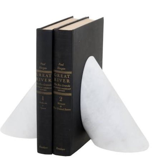 CH PEARLE MARBLE BOOKENDS