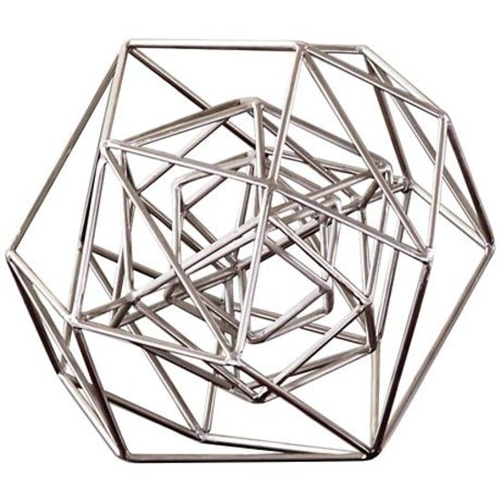 CH SILVER GEO SCULPTURE | MEDIUM