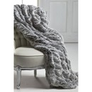 CH FAUX FUR THROW | FROSTED GREY