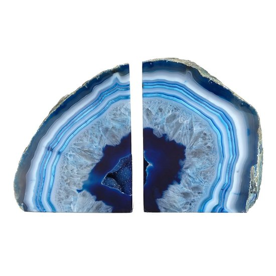 CH AGATE BOOKENDS | BLUE