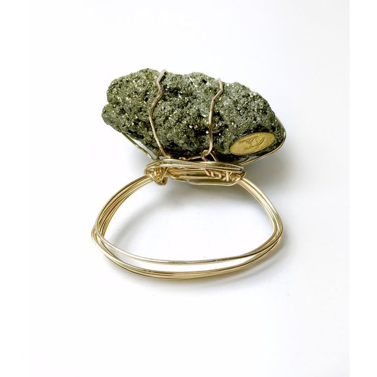 CH CANDY ROCKS NAPKIN RING | PYRITE