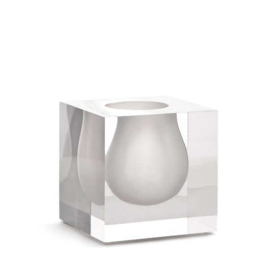 CH BEL AIR MINI SCOOP VASE | WHITE