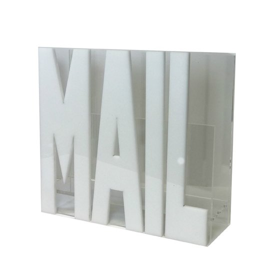 CH ACRYLIC MAIL HOLDER | WHITE