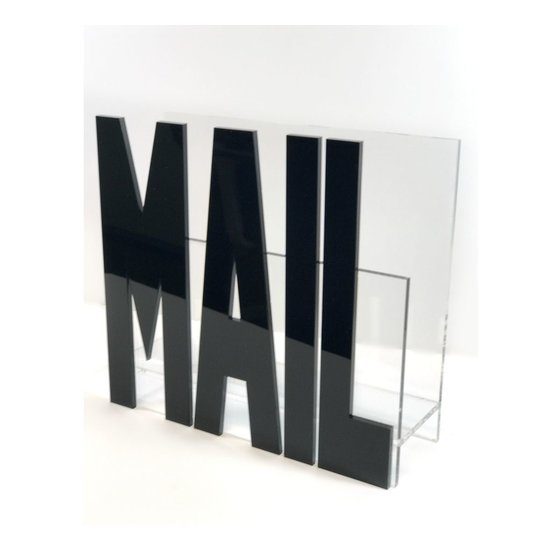 CH ACRYLIC MAIL HOLDER | BLACK