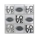 CH ACRYLIC TIC TAC TOE SET | SILVER LOVE & LIPS