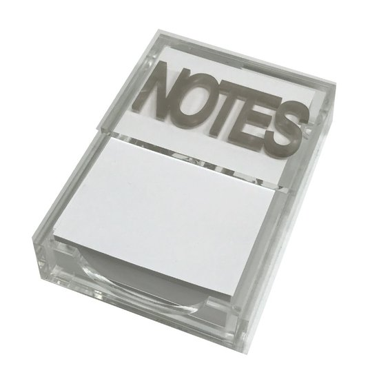 CH NOTE PAD HOLDER   SILVER MARBLE NOTES