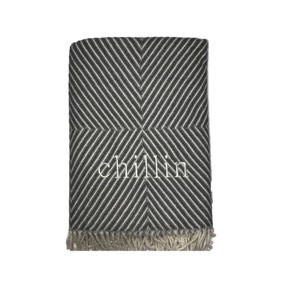 CH THROW BLANKET | CHILLIN | GRAPHIC GRAY