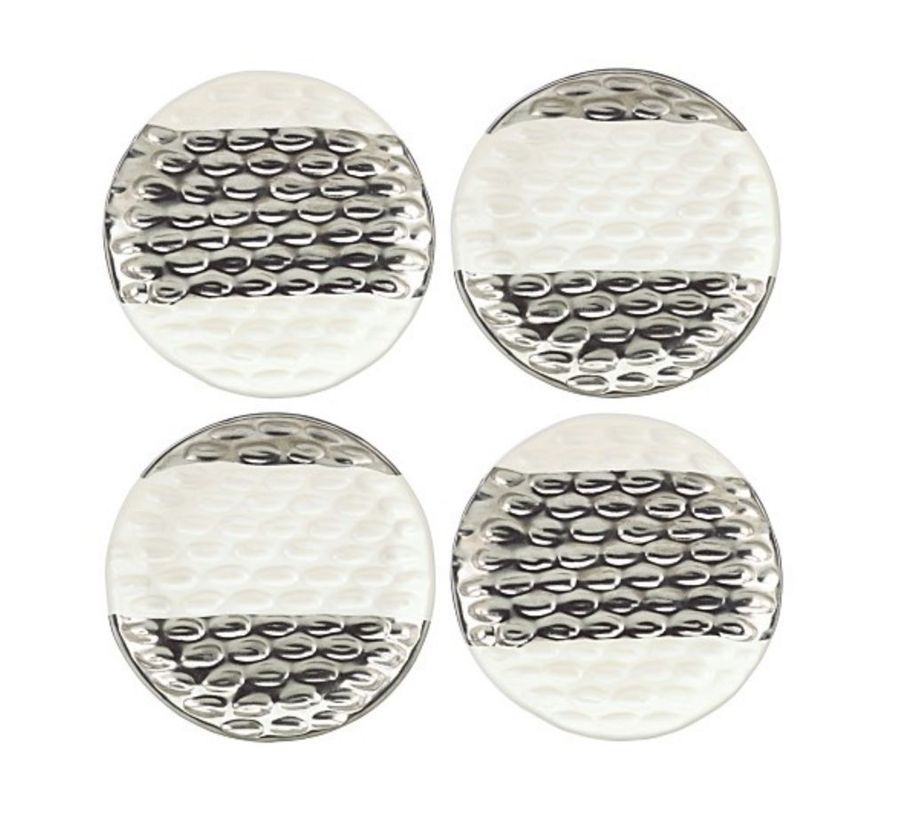 Ch truro canape plates set platinum current home for What are canape plates