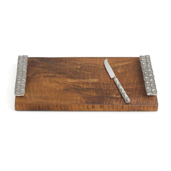 CH TRURO CHEESE TRAY & KNIFE | PLATINUM