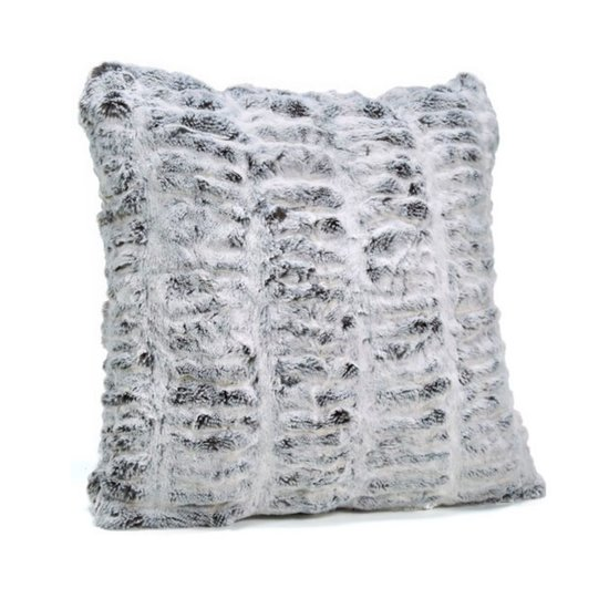CH FAUX FUR PILLOW | FROSTED GREY