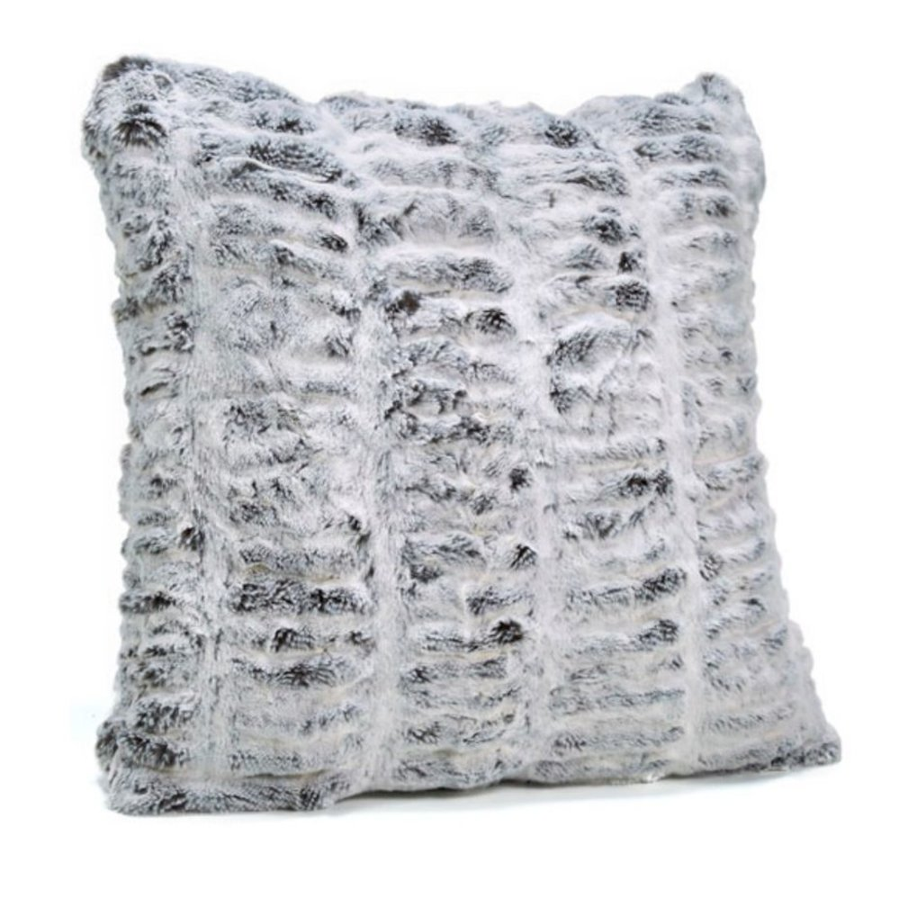 CH FAUX FUR PILLOW | FROSTED GREY - Current Home