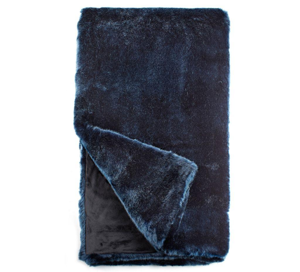Ch Faux Fur Throw Blue Mink on Plastic Reusable Vases