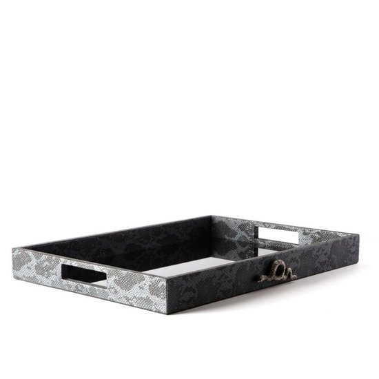 CH PYTHON SNAKE TRAY | CHARCOAL | LARGE