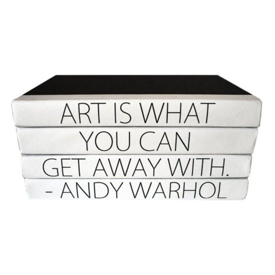CH QUOTE BOOKSET | ART IS WHAT YOU CAN GET AWAY WITH