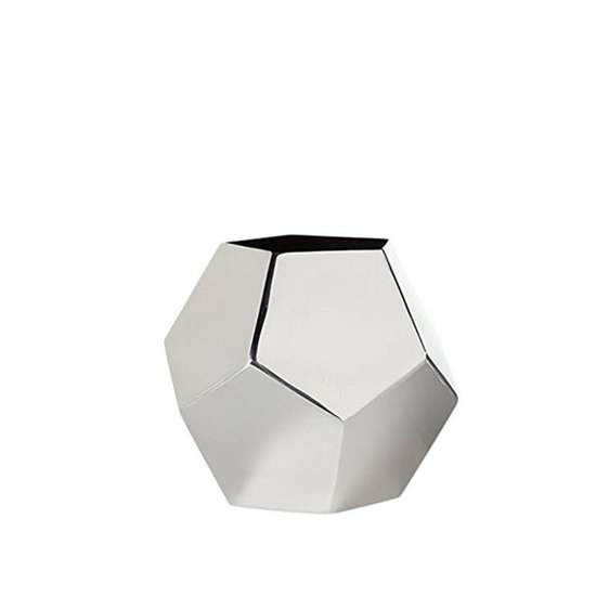 CH POLYGON VASE | STAINLESS STEEL | SHORT