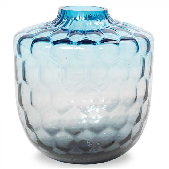 CH HONEYCOMB VASE | BLUE TO GREY
