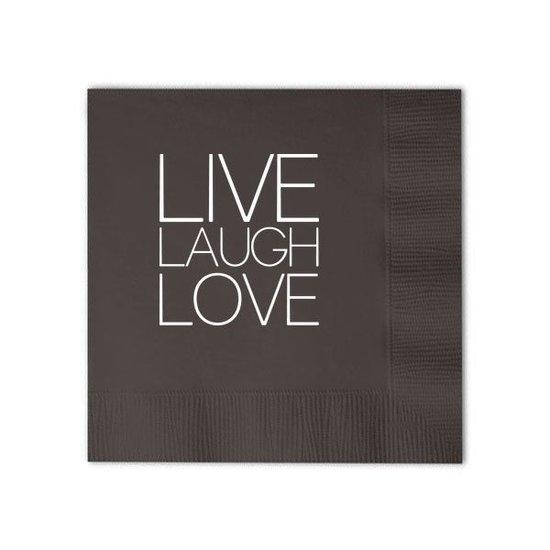 COCKTAIL NAPKIN BOX SET | LIVE, LAUGH, LOVE