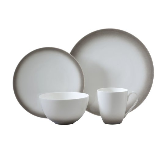 OMBRE 4 PIECE DINNERWARE SET | GREY