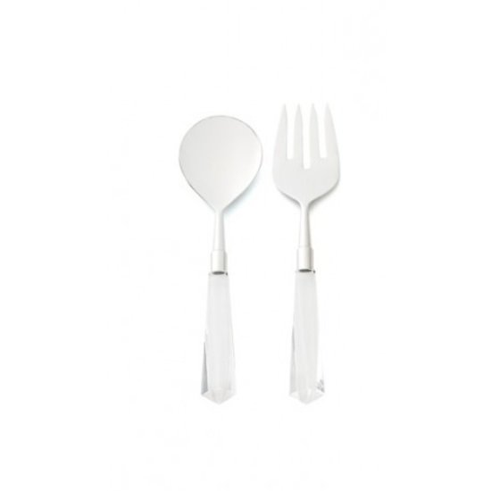 FACETED ACRYLIC SALAD SERVERS