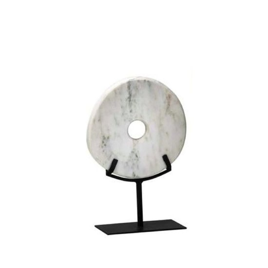 WHITE DISK ON STAND | SMALL