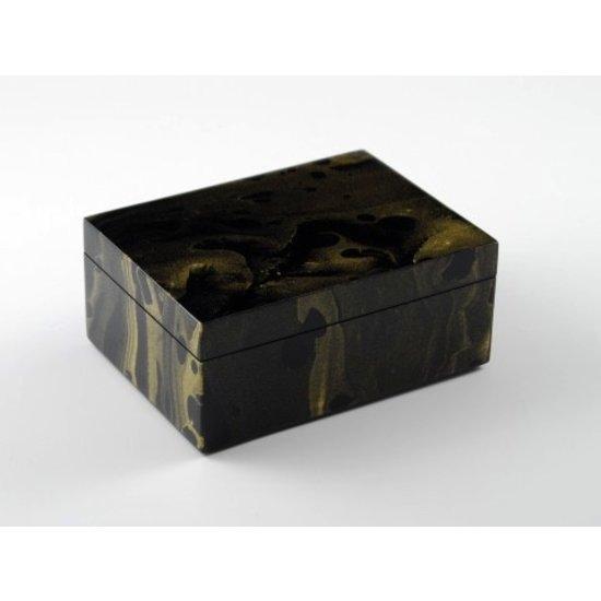BLACK & GOLD MARBLE BOX | MEDIUM
