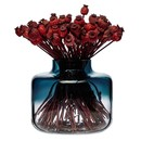 MAGNOLIA WIDE VASE | BLUE & CLEAR